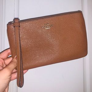 Coach Tan Large Wristlet Wallet